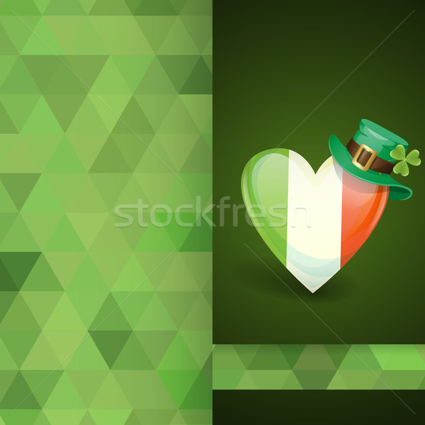 Patrick's Day. Irish Flag In The Shape Of A Heart Stock photo © HelenStock