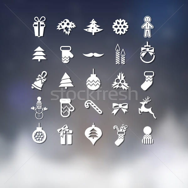 Stock photo: Christmas Icons Set