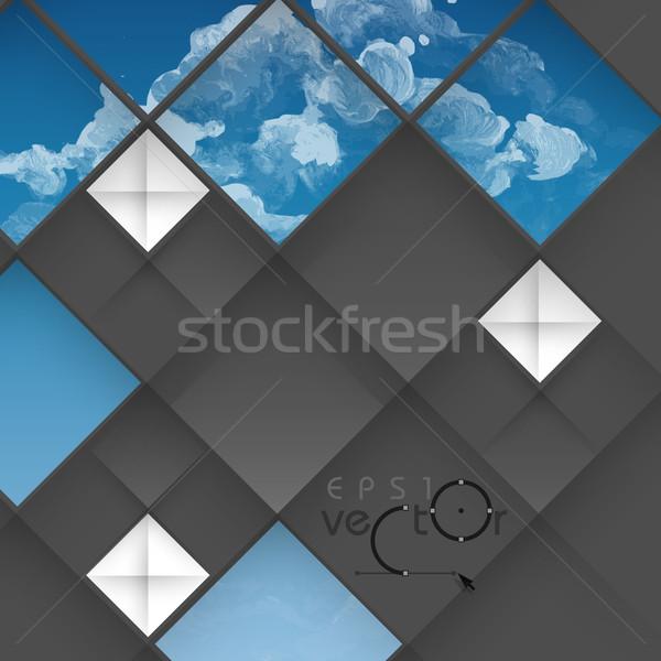 Absztrakt mértani terv 3D eps 10 Stock fotó © HelenStock