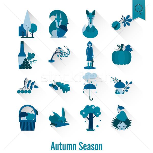 Set autunno icone semplice Foto d'archivio © HelenStock