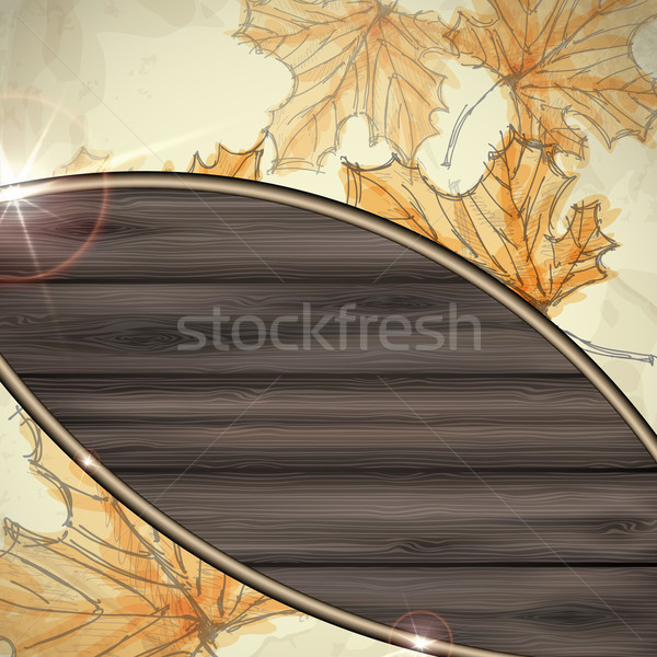 Dessinés à la main automne eps 10 arbre bois Photo stock © HelenStock