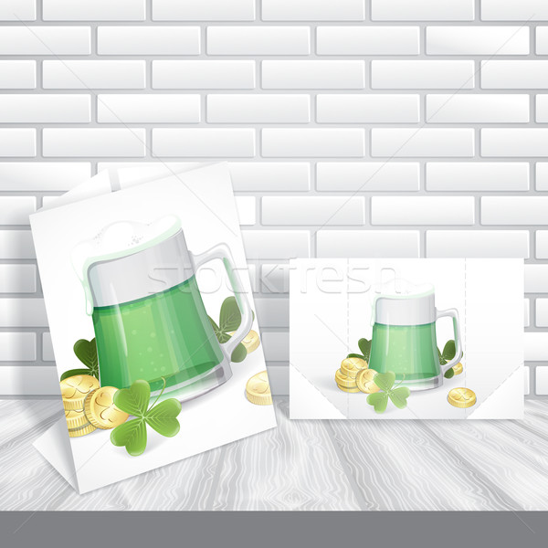Mug Of Green Beer For St Patrick's Day. Stock photo © HelenStock