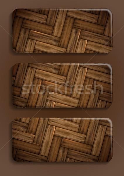 Fából készült textúra szalag eps 10 üzlet Stock fotó © HelenStock