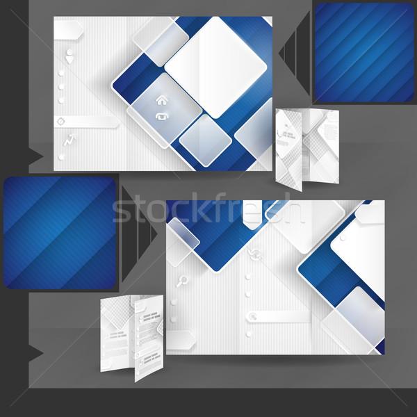 Negócio folheto modelo projeto branco praça Foto stock © HelenStock