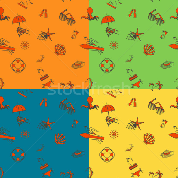 Four Background in Different Colors Stock photo © HelenStock