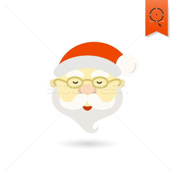 Noel baba kafa renkli ikon parti yüz Stok fotoğraf © HelenStock