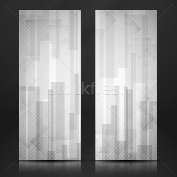 Abstract witte rechthoek banner eps Stockfoto © HelenStock