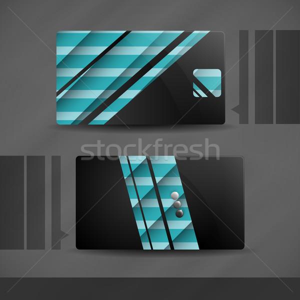 Visitekaartje ontwerp eps 10 papier abstract Stockfoto © HelenStock