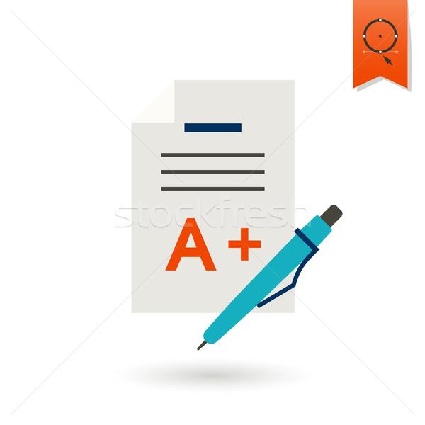 School onderwijs iconen icon ontwerp stijl Stockfoto © HelenStock