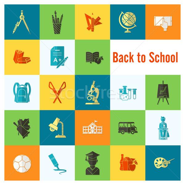 école éducation icônes design style Photo stock © HelenStock