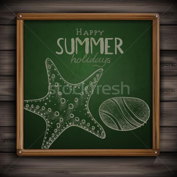Ingesteld communie groene schoolbord Stockfoto © HelenStock