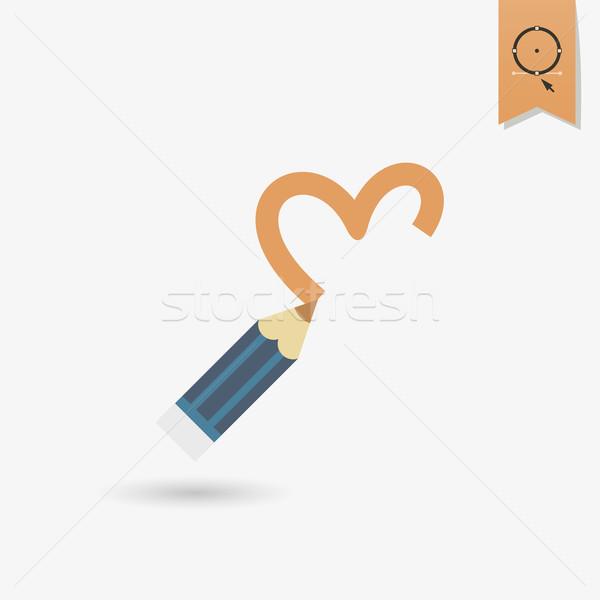 Boldog valentin nap ikon egyszerű esküvő szeretet Stock fotó © HelenStock