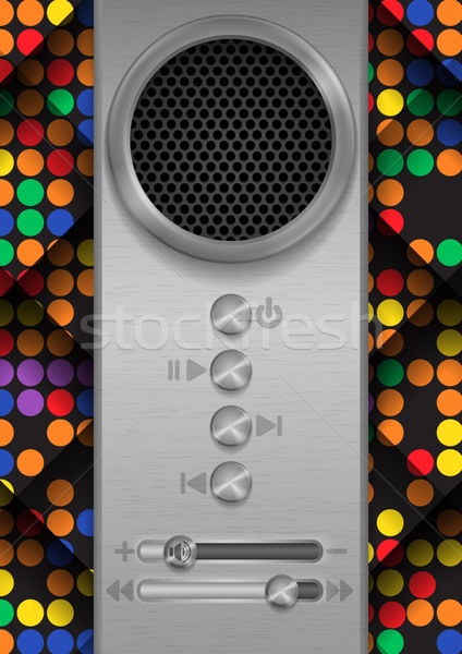 Stock photo: Abstract Speaker Concept Design.