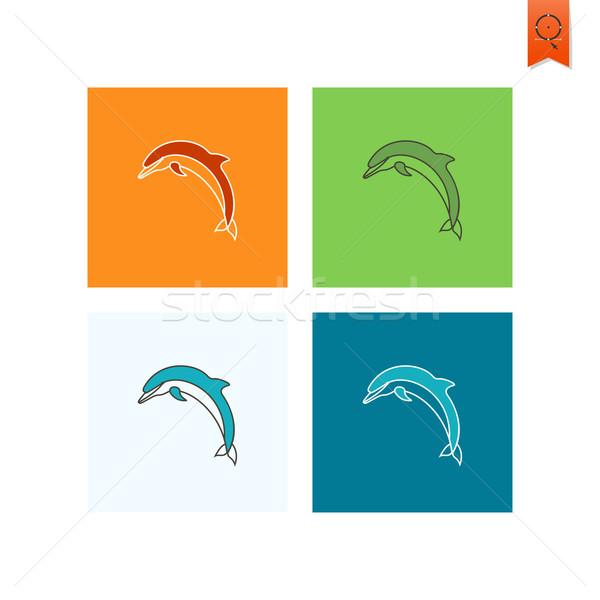 Yaz plaj basit simgeler vektör dizayn Stok fotoğraf © HelenStock
