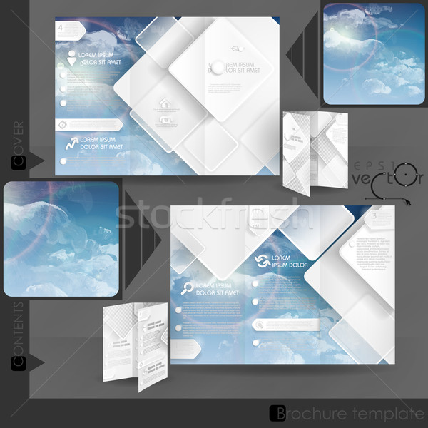 Business Brochure Template Design Stock photo © HelenStock