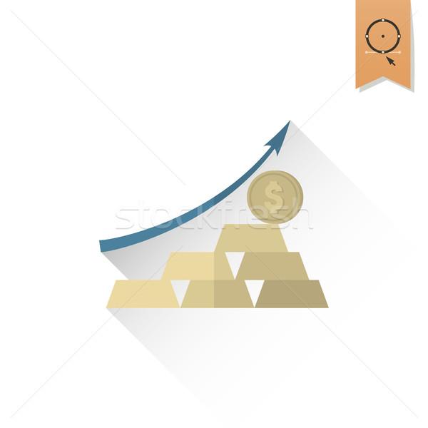 Graphe d'affaires flèche pointant up affaires Finance Photo stock © HelenStock