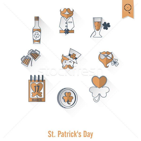 Saint Patricks Day Isolated Icon Set Stock photo © HelenStock
