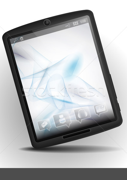 Tablet Pc With Abstract Smoke Background. Stock photo © HelenStock