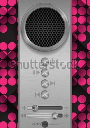 Absztrakt hangszóró terv eps 10 zene Stock fotó © HelenStock