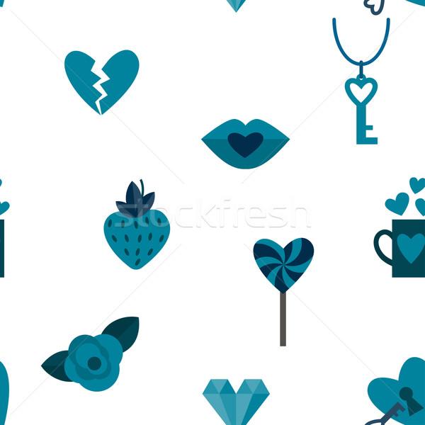 ロマンチックな シームレス シンボル バレンタインデー 要素 ストックフォト © HelenStock