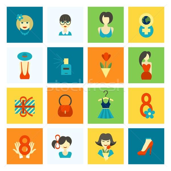 день дизайна Элементы международных Женский день Сток-фото © HelenStock