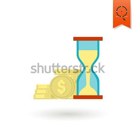 Az idő pénz üzlet pénzügy ikon egyszerű minimalista Stock fotó © HelenStock