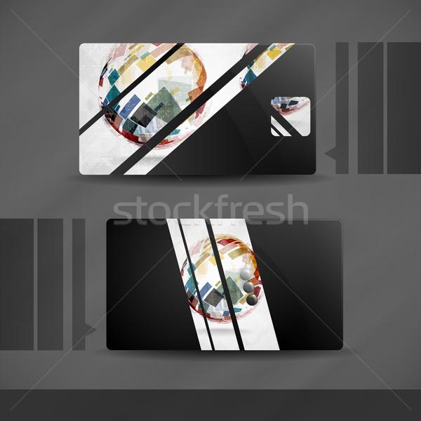 Business Card Design. Stock photo © HelenStock