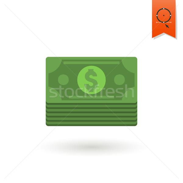 Boglya pénz üzlet pénzügy ikon egyszerű Stock fotó © HelenStock