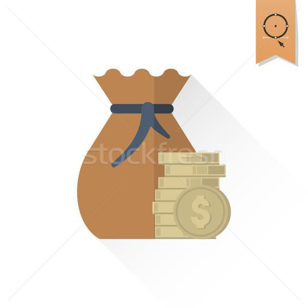 Sac argent affaires Finance icône simple Photo stock © HelenStock