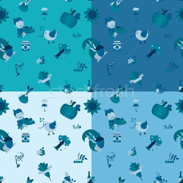 Najaar vier verschillend kleuren vector Stockfoto © HelenStock