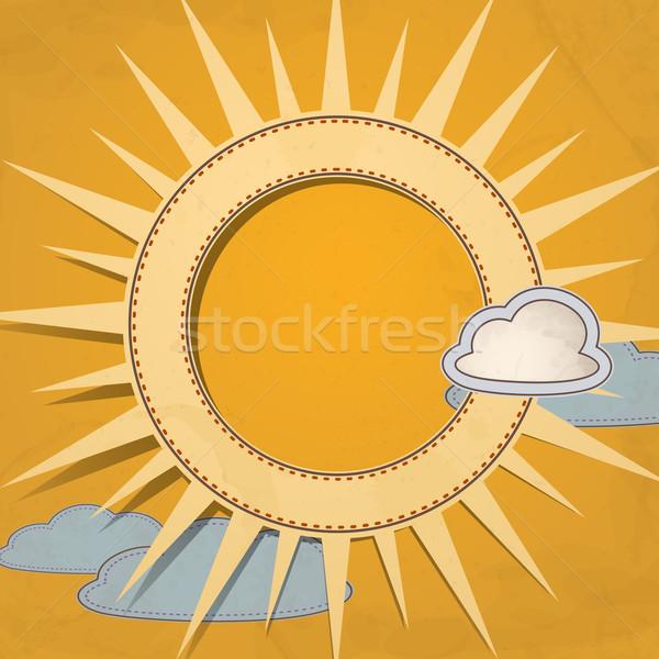 Zomer zon eps 10 hemel ontwerp Stockfoto © HelenStock