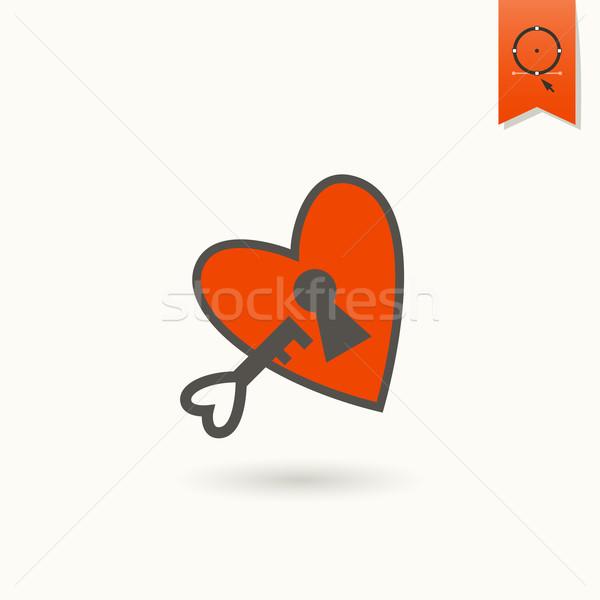 Happy Valentines Day Icon Stock photo © HelenStock
