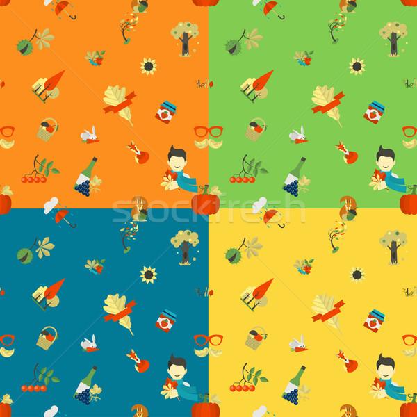 Outono quatro diferente cores vetor Foto stock © HelenStock