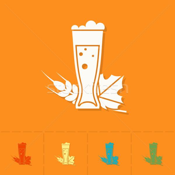 Oktoberfest bier festival glas ontwerp stijl Stockfoto © HelenStock