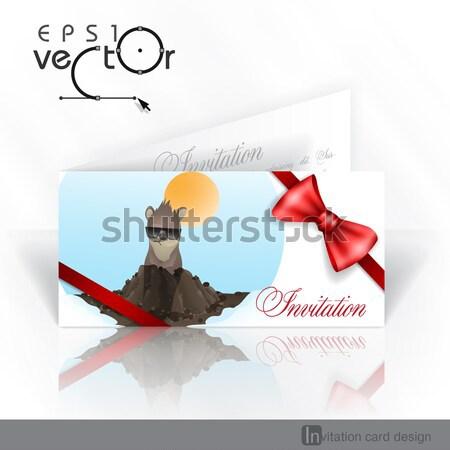 Invitation Card Design, Template. Stock photo © HelenStock