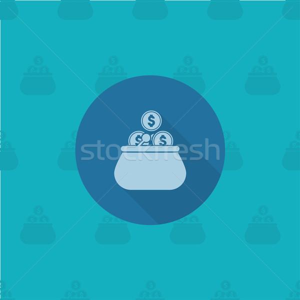 кошелька монетами бизнеса Финансы икона простой Сток-фото © HelenStock