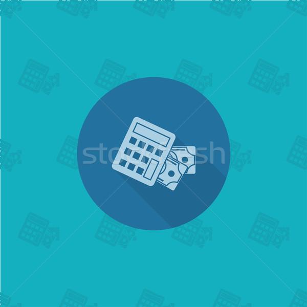 Сток-фото: калькулятор · деньги · бизнеса · Финансы · икона · простой