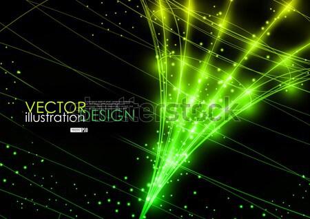Neon teknoloji eps 10 iş Internet Stok fotoğraf © HelenStock