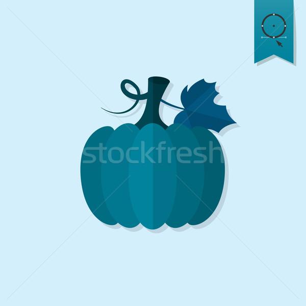 Dynia jesienią ikona proste stylu Zdjęcia stock © HelenStock