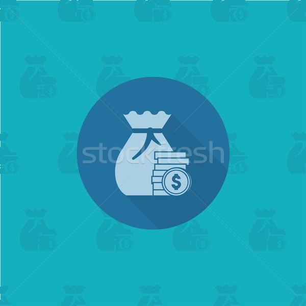 Сток-фото: мешок · деньги · бизнеса · Финансы · икона · простой