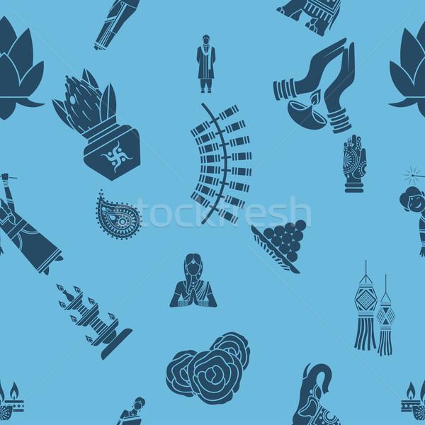 Сток-фото: индийской · фестиваля · Дивали · вектора · цветок