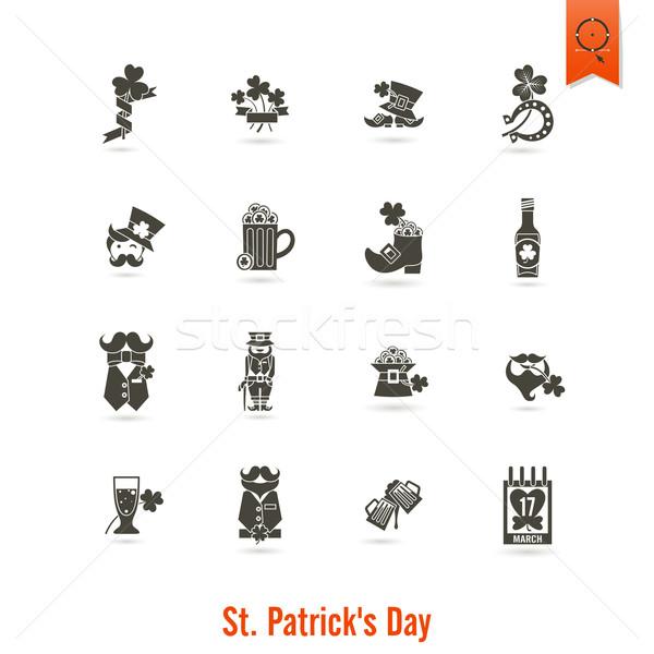 Szent nap izolált ikon gyűjtemény vektor tiszta Stock fotó © HelenStock