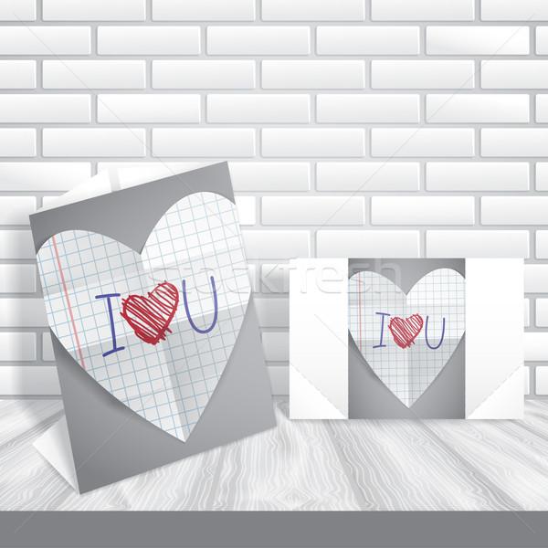 Happy Valentines Day. Stock photo © HelenStock