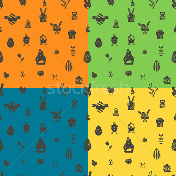 Páscoa quatro diferente cores vetor Foto stock © HelenStock