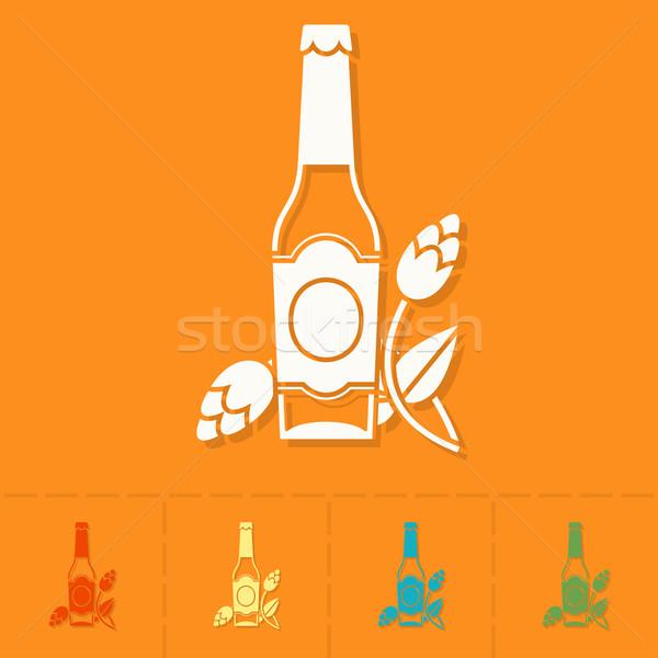 Oktoberfest bier festival glas bierfles hop Stockfoto © HelenStock
