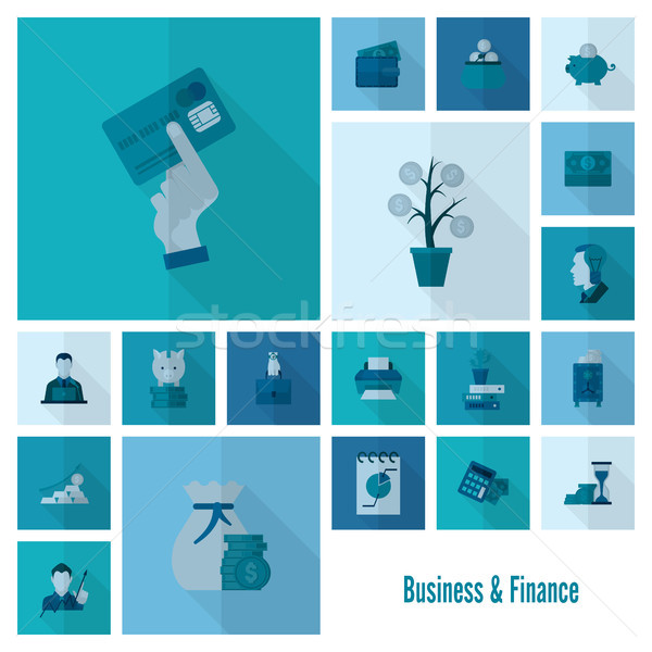 Affaires Finance simple style Photo stock © HelenStock
