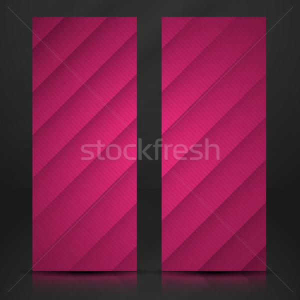 Streszczenie fioletowy papieru warstwy eps 10 Zdjęcia stock © HelenStock