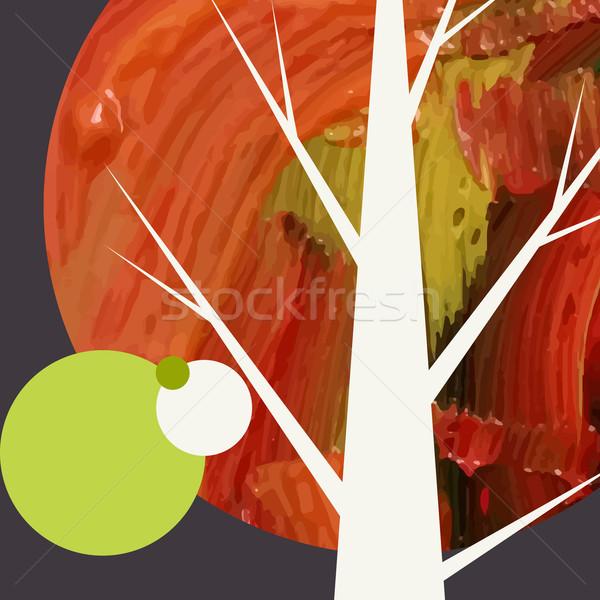 Creatieve najaar eps 10 textuur bos Stockfoto © HelenStock