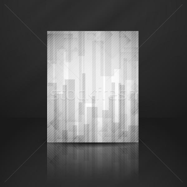Soyut beyaz dikdörtgen eps 10 Stok fotoğraf © HelenStock