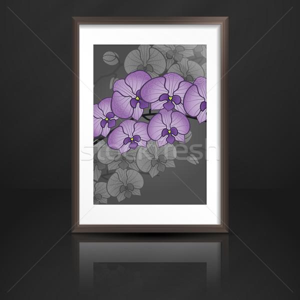 Wood Shelf With Photo Frame. Stock photo © HelenStock